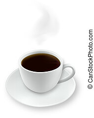 Cup of coffee. Photo-realistic vector.