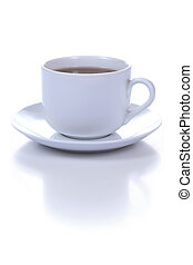 cup of coffee - cup of tea isolated on white background