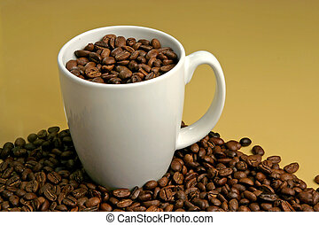 cup of coffee grains
