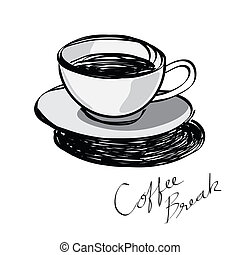 Cup of coffee hand drawn