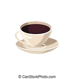 Cup of coffee icon, cartoon style