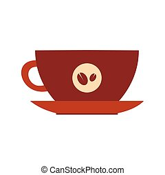 Cup of coffee icon, flat style