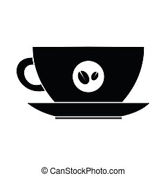 Cup of coffee icon, simple style