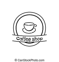 Cup of coffee icon vector illustration on white background
