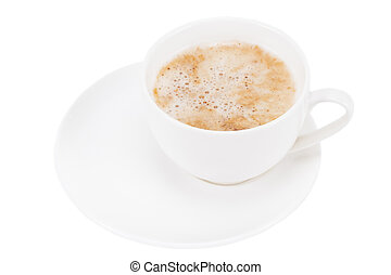 cup of coffee isolated on white background