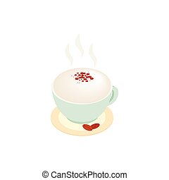 Cup of coffee isometric 3d icon