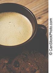 Cup of coffee macro