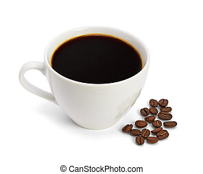 Cup of coffee, on white background, isolated