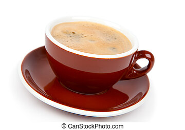 Cup of coffee, on white background