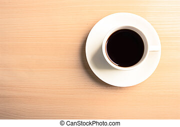 Cup of coffee - A cup of coffee is on the table.