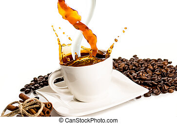 Cup of coffee splash