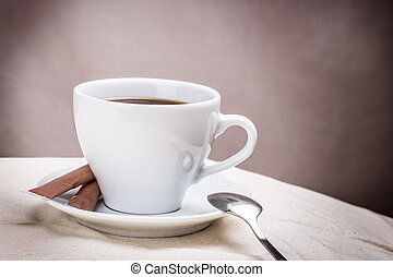 cup of coffee spoon