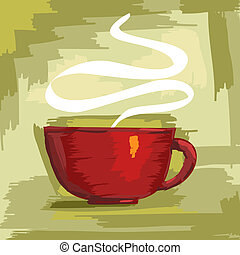 Cup of coffee fully editable vector illustration