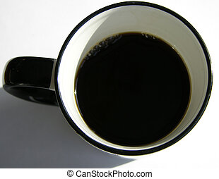 cup of coffee - top view of coffee cup