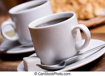 cup of coffee - two cups with black coffee