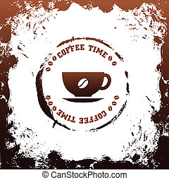 cup of coffee vector background