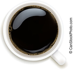 Cup Of Coffee Isolated On White Background, Vector Illustration