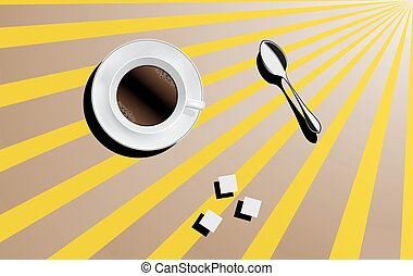 Cup of coffee. Vector illustration.