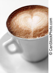Cup of coffee with a heart