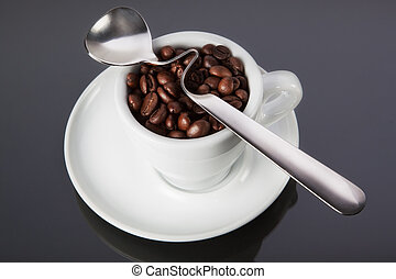 cup of coffee with a spoon