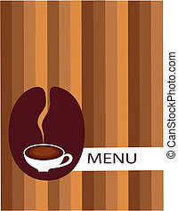 cup of coffee with bean menu - cup of coffee with coffee ...