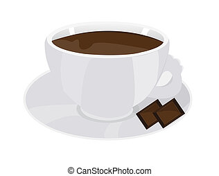 Cup of coffee with chocolate