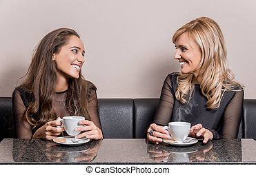 Cup of coffee with friends