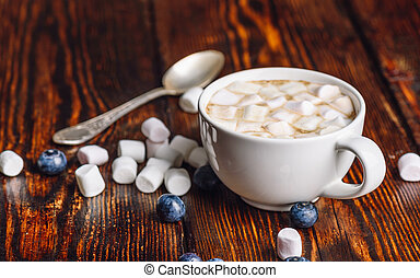Cup of Coffee with Marshmallow.