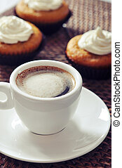 coffee with muffins