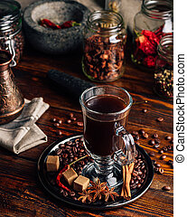 Cup of Coffee with Oriental Spices.