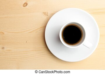 cup of coffee with space for text