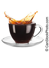 Cup of coffee with splash