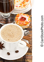 cup of coffee with sweets i