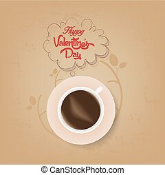cup of coffee with valentines