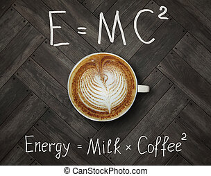 Cup of energy coffee