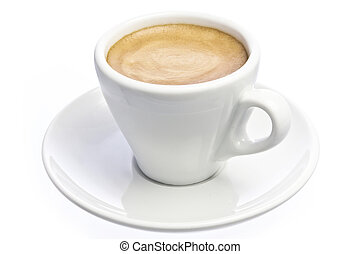 Cup of espresso Coffee isolated over white