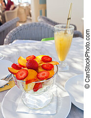 Cup of fruit salad