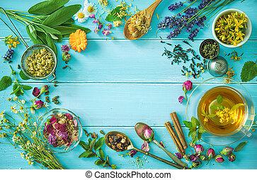 Cup of healthy herbal tea