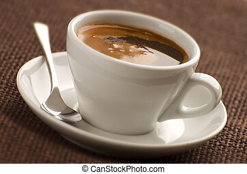 coffee - cup of hot coffee close up shoot
