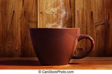 hot drink - cup of hot drink on table