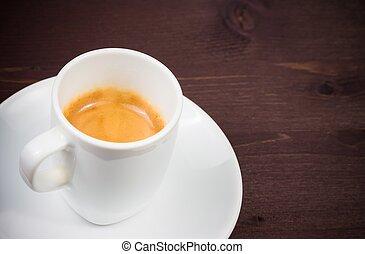 cup of italian espresso coffee