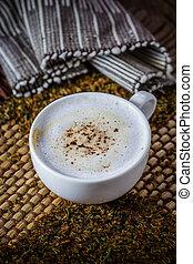 Cup of mocha coffee
