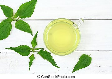 Cup of nettle tea for good health