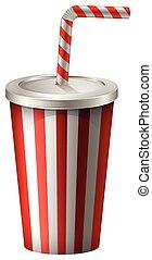 Cup of soft drink illustration