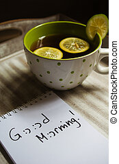 Cup of tea and Good morning note