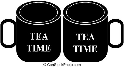 Cup of tea icon isolated on white background