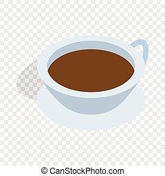 Cup of tea isometric icon