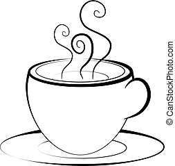 Cup of Tea line drawing