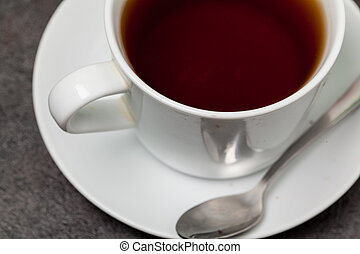 Cup of tea on table