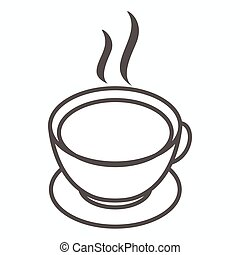 Cup of tea or cofee icon, isometric 3d style